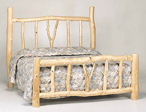 Log Furniture at Bent Log Designs;Rustic Furniture:Log bed, Aspen ...
