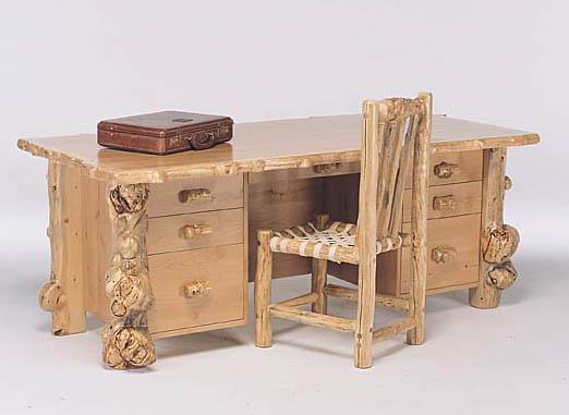 Log Furniture at Bent Log Designs;Rustic Furniture:Log bed, Aspen ...