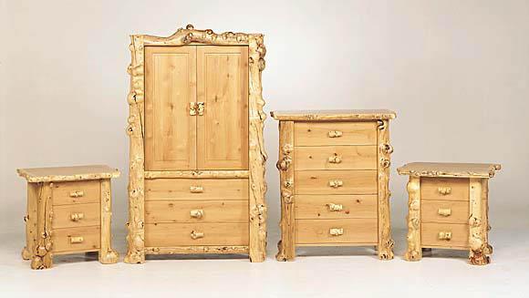 Log Furniture at Bent Log Designs;Rustic Furniture:Log bed ...